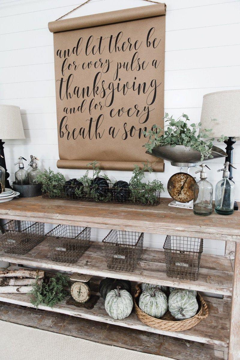 Room DIY Farmhouse Dining Buffet