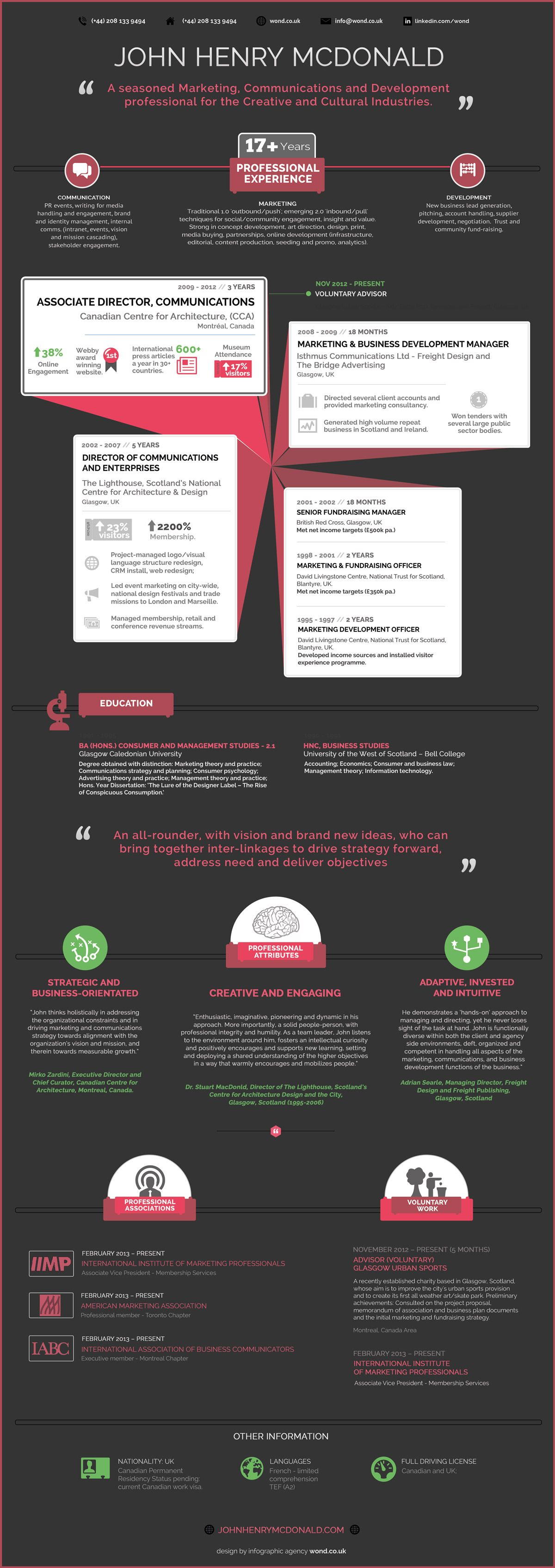 Infographic Resume Template  Resume Designs