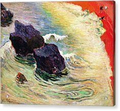 Paul Gauguin Bathing Place On Artstack Paul Gauguin Art Sea
