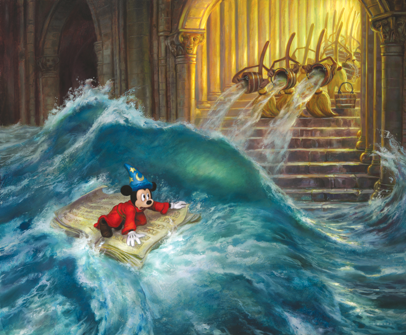 Wonderfully Imaginative Painting Of Disney S Sorcerer S