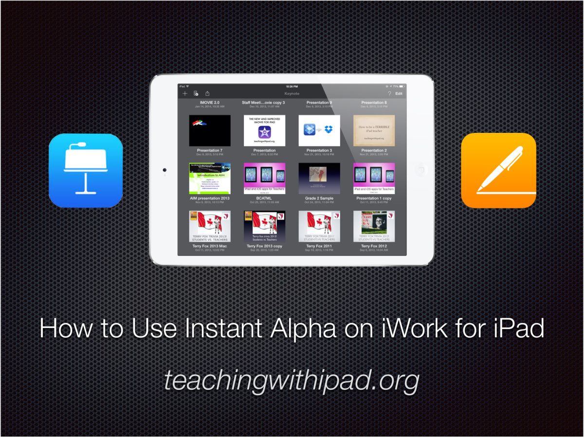 Use Instant Alpha To Remove The Backgrounds Of Images On Ipad
