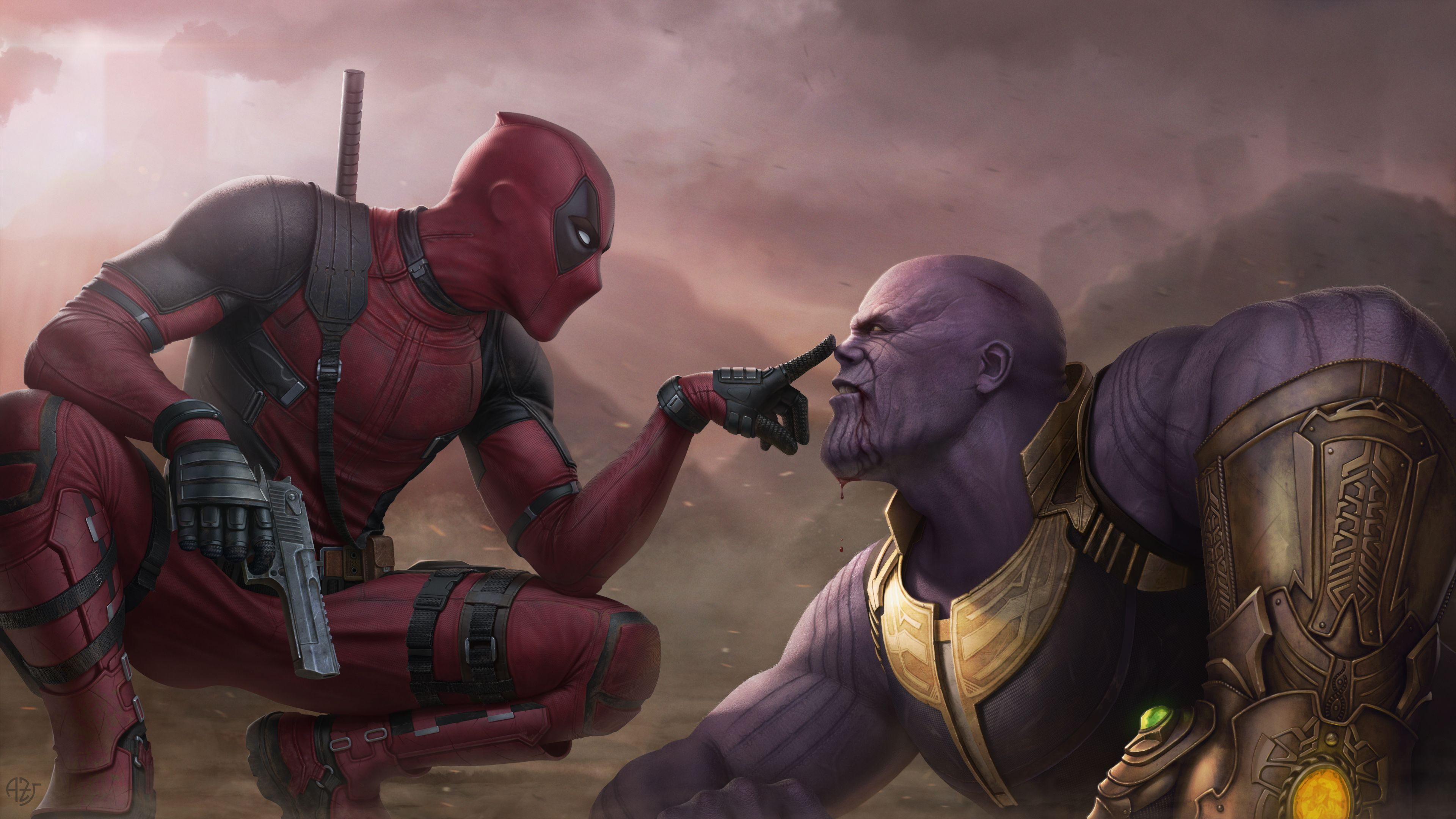 Deadpool Vs Thanos 4k Thanos Wallpapers Supervillain Wallpapers Superheroes Wallpapers Hd Wallpapers Di Deadpool Wallpaper Marvel Superheroes Marvel Heroes
