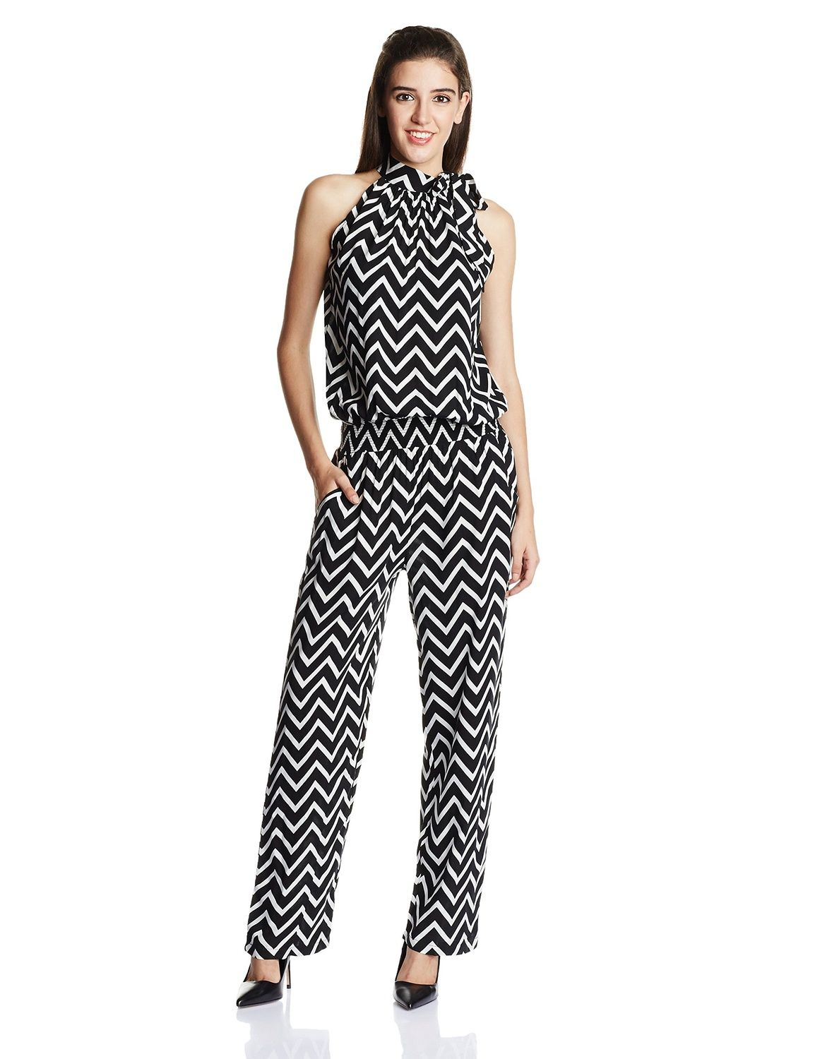 d200bdfc5f02 Zink London Women's Cotton Jumpsuit: Amazon.in: Clothing & Accessories