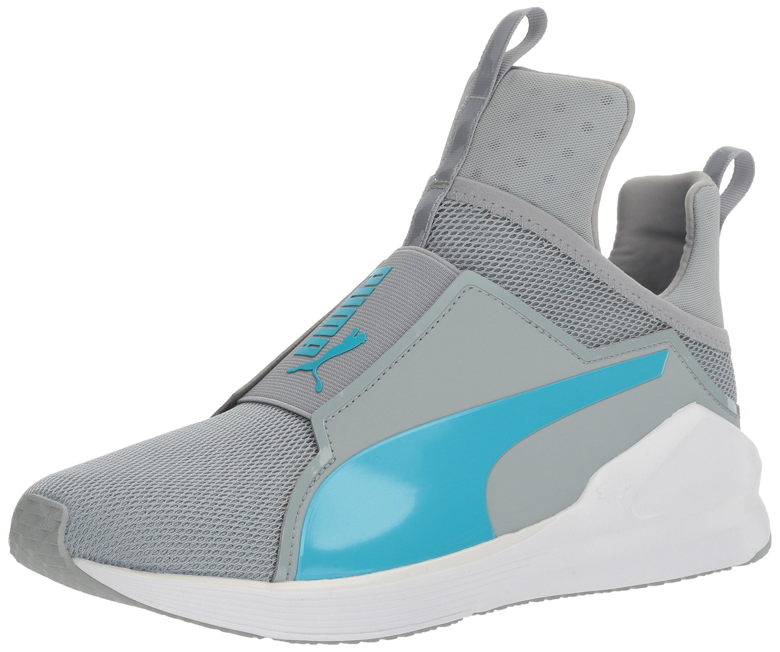 PUMA Women's Fierce Core Cross-Trainer Shoe, Quarry-Blue Atoll, ...