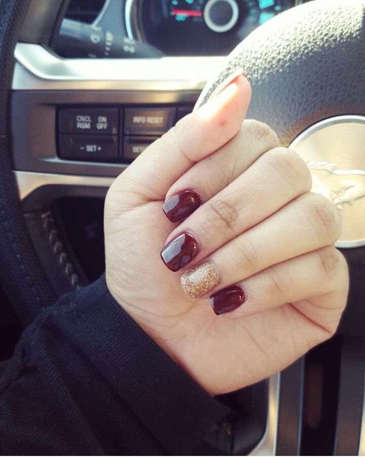 NexGen nails. ANC powder colors 29 and 46. Love the oxblood color ...
