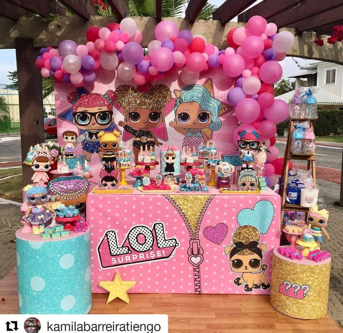Lol doll balloons surprise arch kit balloon garland unicorn diy organic bi  party decorations also rh pinterest