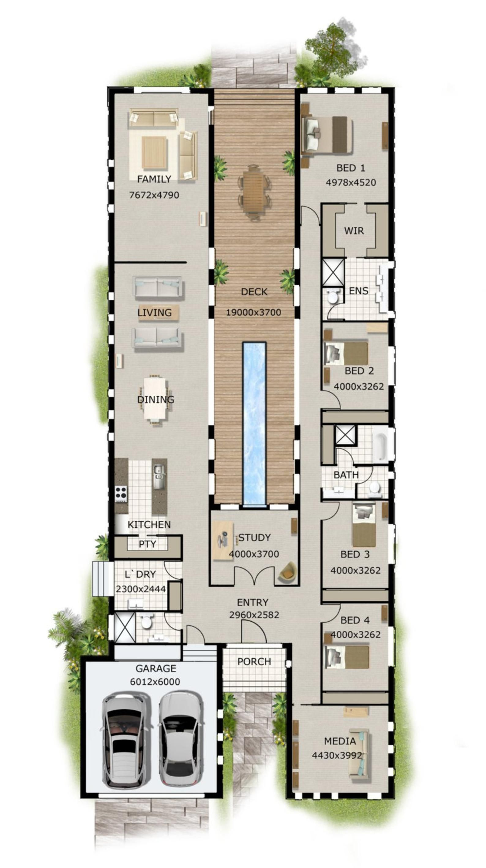 418m2 4503 Sq Foot 5 Bed Flat 4 plus study Home design 5 bed Home home plans Modern 5 bedroom Home Plans