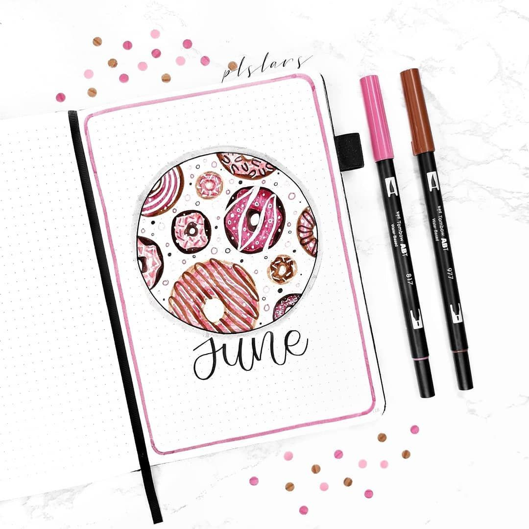 JUNE COVERPAGE✨ I'm SO excited for this months them #septemberbulletjournalcover