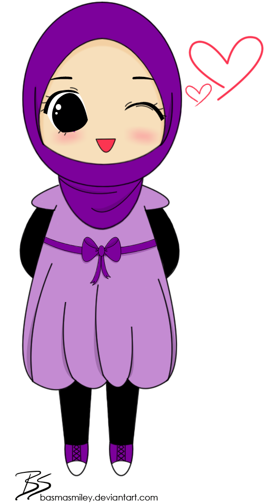 Female Muslim Chibi by BasmaSmiley on deviantART (Dengan