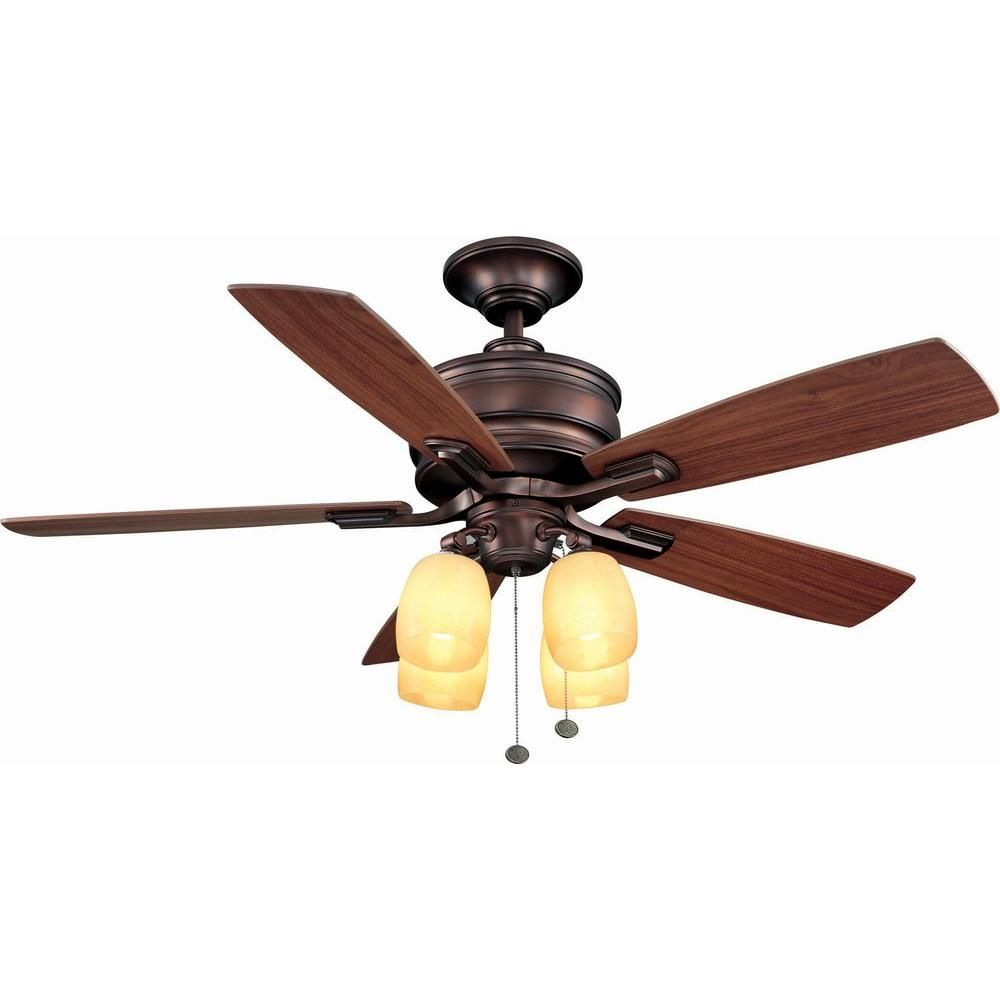 Oil Brushed Bronze Ceiling Fan Ac413a Obb The Home Depot Kitchen