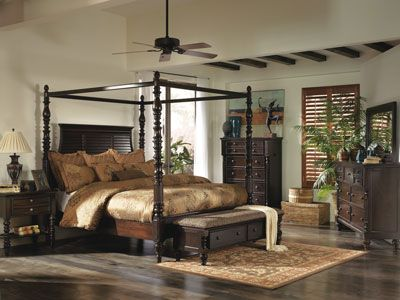 Bring Traditional Style To Your Home With Key Town Collection By Ashley Furniture Ashley Furniture Bedroom British Colonial Bedroom Colonial Bedroom