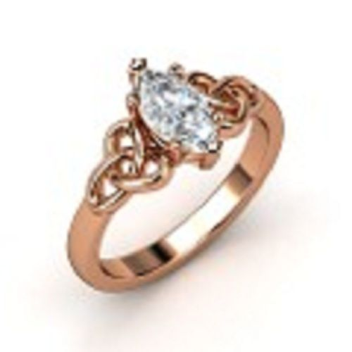 rose gold rings Celtic rose gold ring Diamond Forever Jewelry in