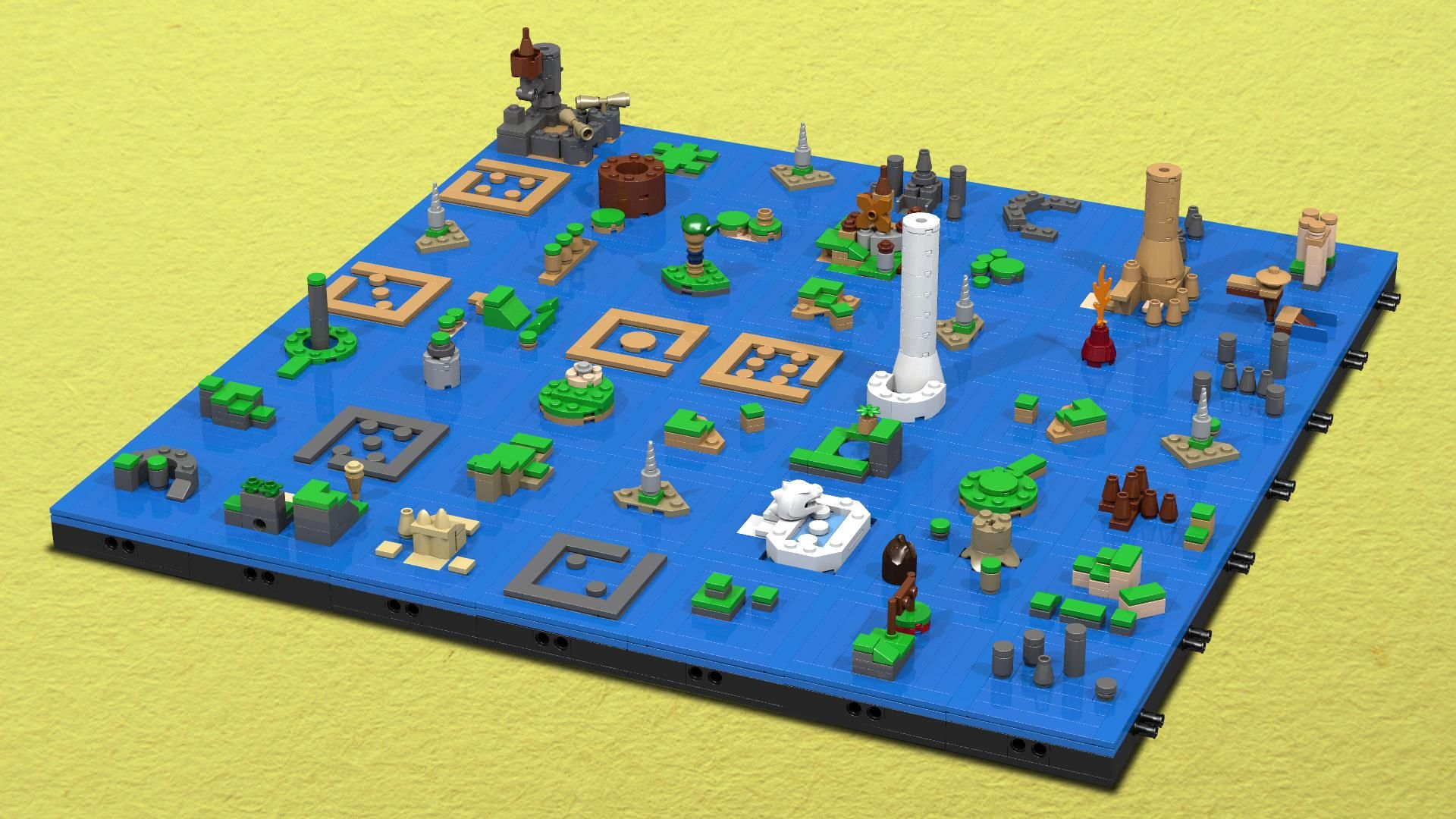 The Legend Of Zelda The Wind Waker S Sea Chart As A Lego