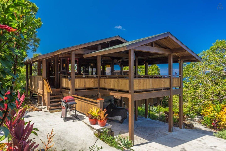 Unique View Cottage Garden Setting In Kailua Kona Tropical Landscaping Garden Set Landscape Design Plans