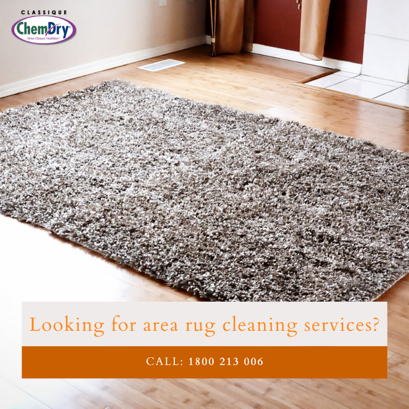 Keep your area rugs clean and allergen-free with Classique Chem-Dry's professional #arearugcleaning services. Visit our website or call us now! #classiquechemdry #goulburn #nsw #australia