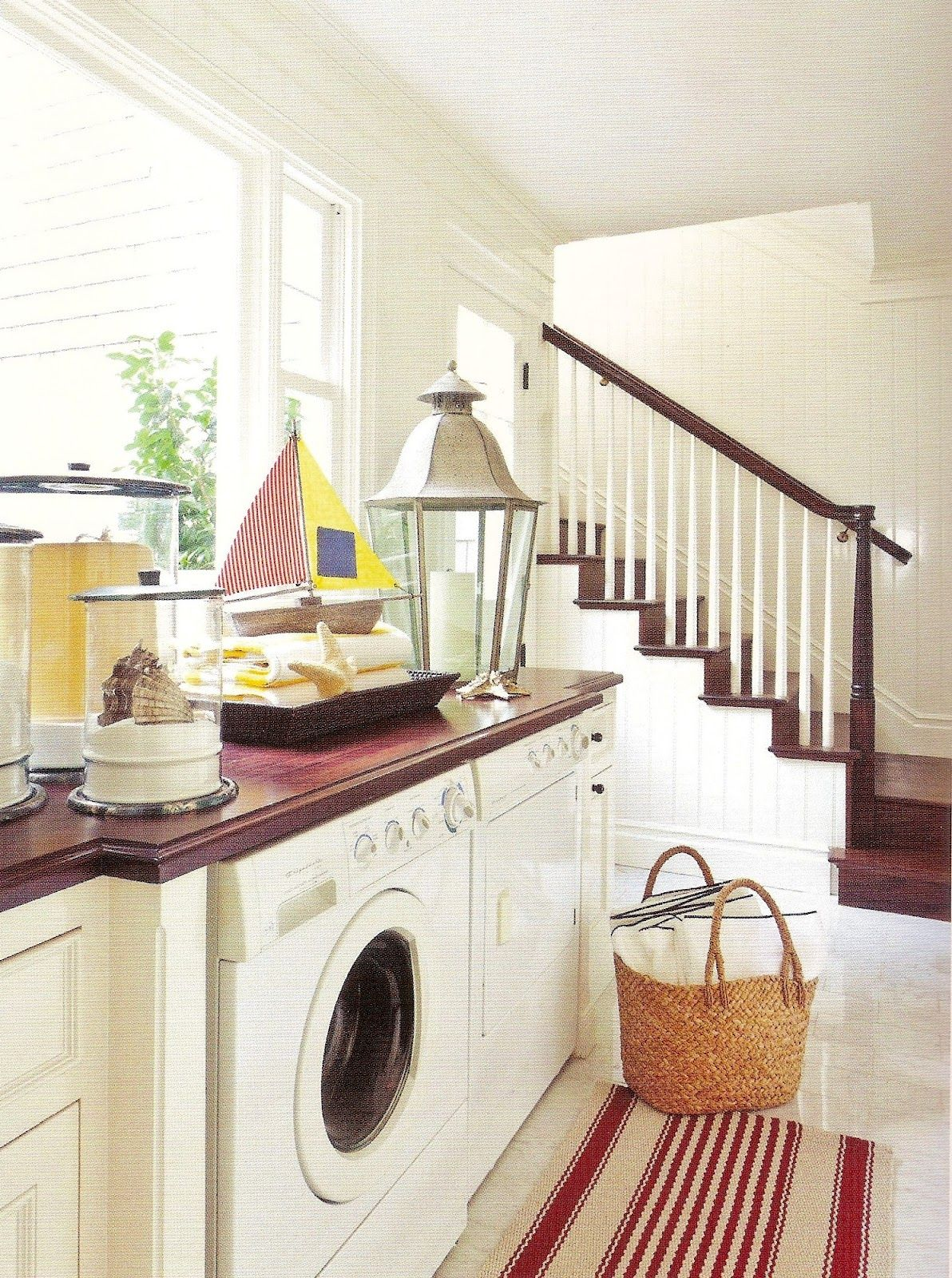 30 red, white & blue by barclay butera   Laundry room, Classic white ...
