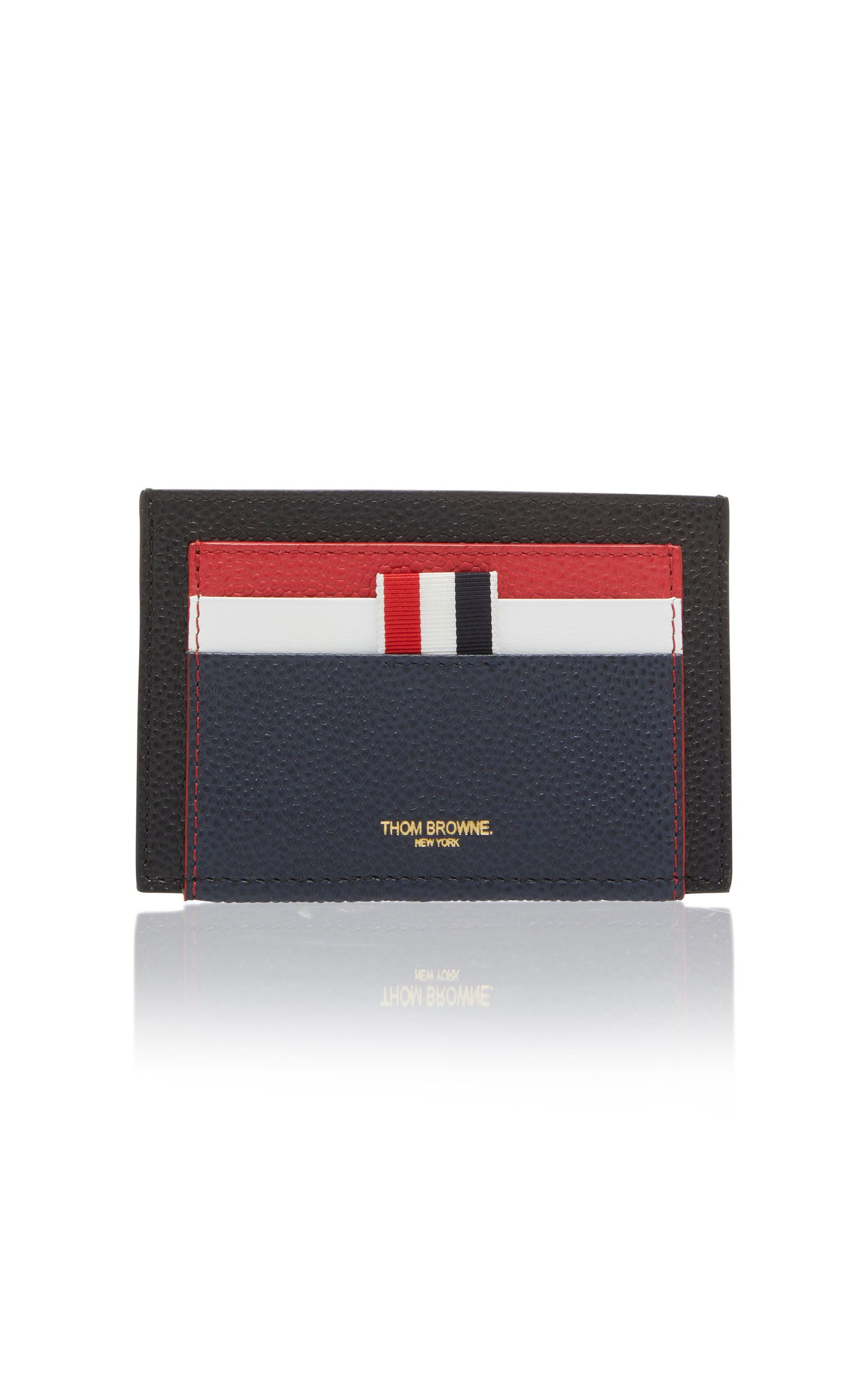 timeless design a947c f7f72 THOM BROWNE DOUBLE-SIDED COLOR BLOCK LEATHER CARD CASE. #thombrowne ...