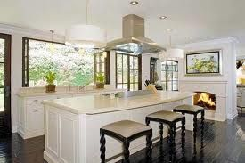 kim kardashian's kitchen...love eerything except the fact that its her. ah fire place