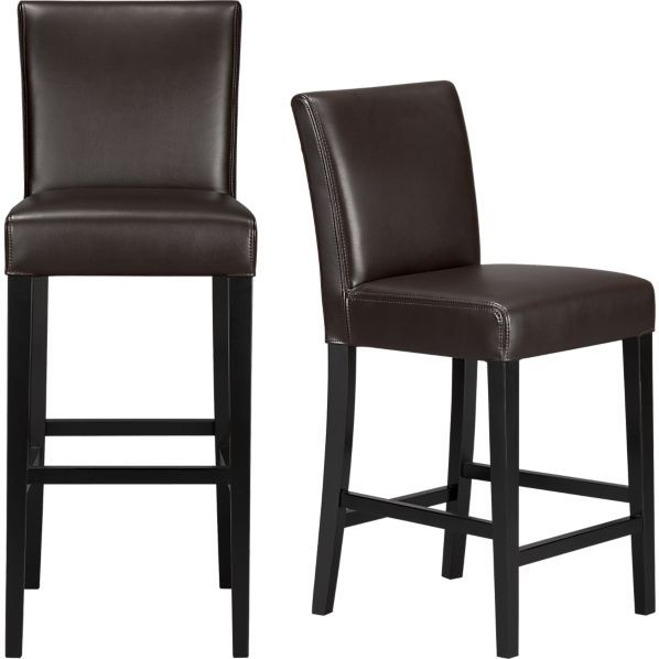Pleasing Lowe Chocolate Leather Bar Stools Bar Stools Leather Bar Machost Co Dining Chair Design Ideas Machostcouk