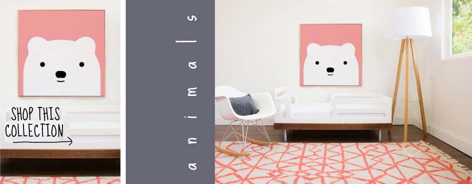 Avalisa C Bear Friend Modern Nursery Playroom Toddler Room