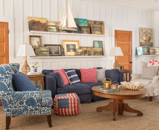 25 Small Cozy Beach Cottage Style Living Room Interior Design & Decor Ideas #beachcottagestyle