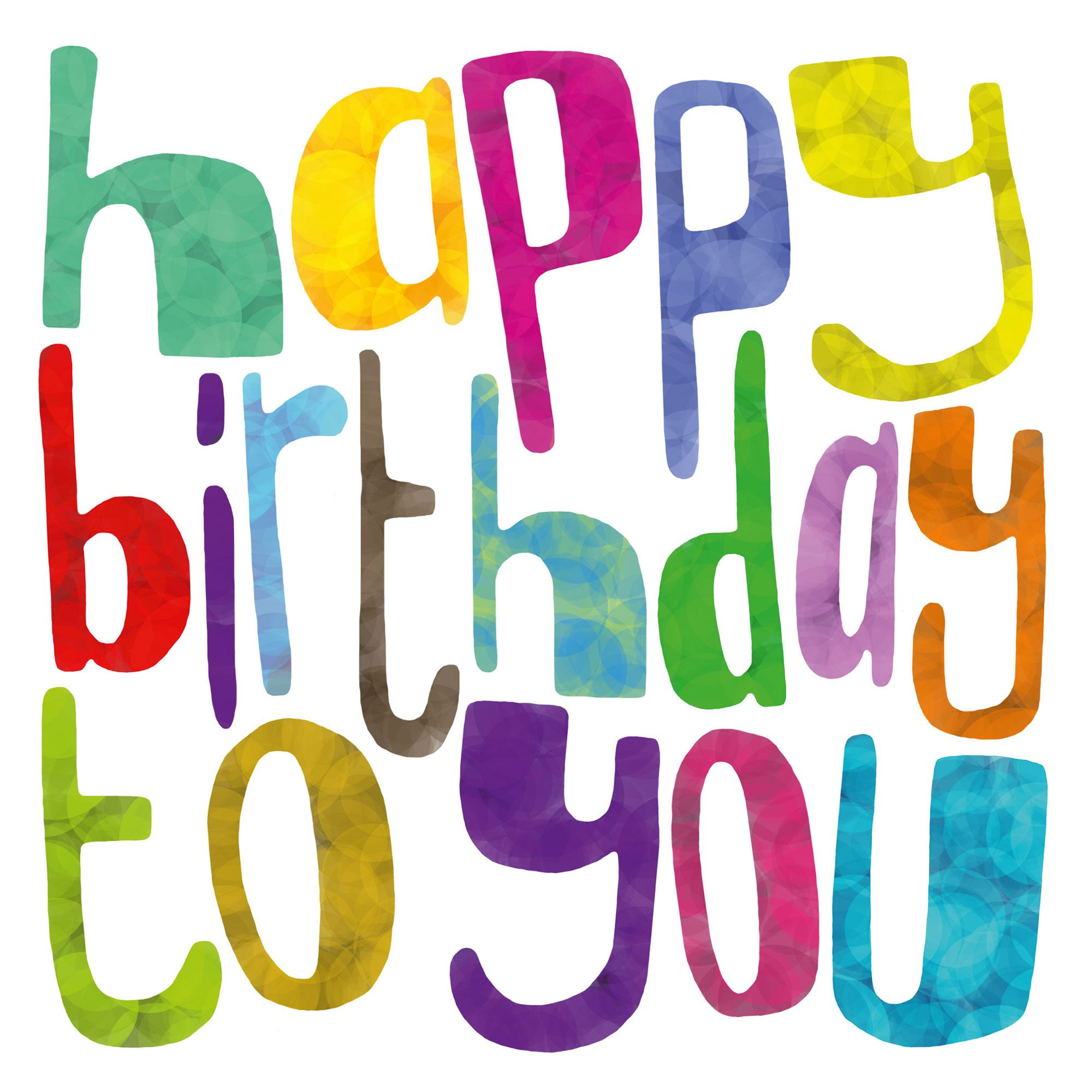 Happy Birthday To You W143 Celebration Greetings Card By Seb Rye