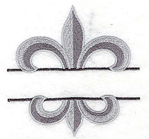 Fleur De Lis Split embroidery design