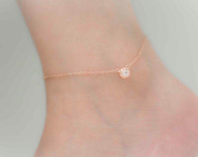 Ankle bracelet anklet freshwater pearl bracelet foot bracelet