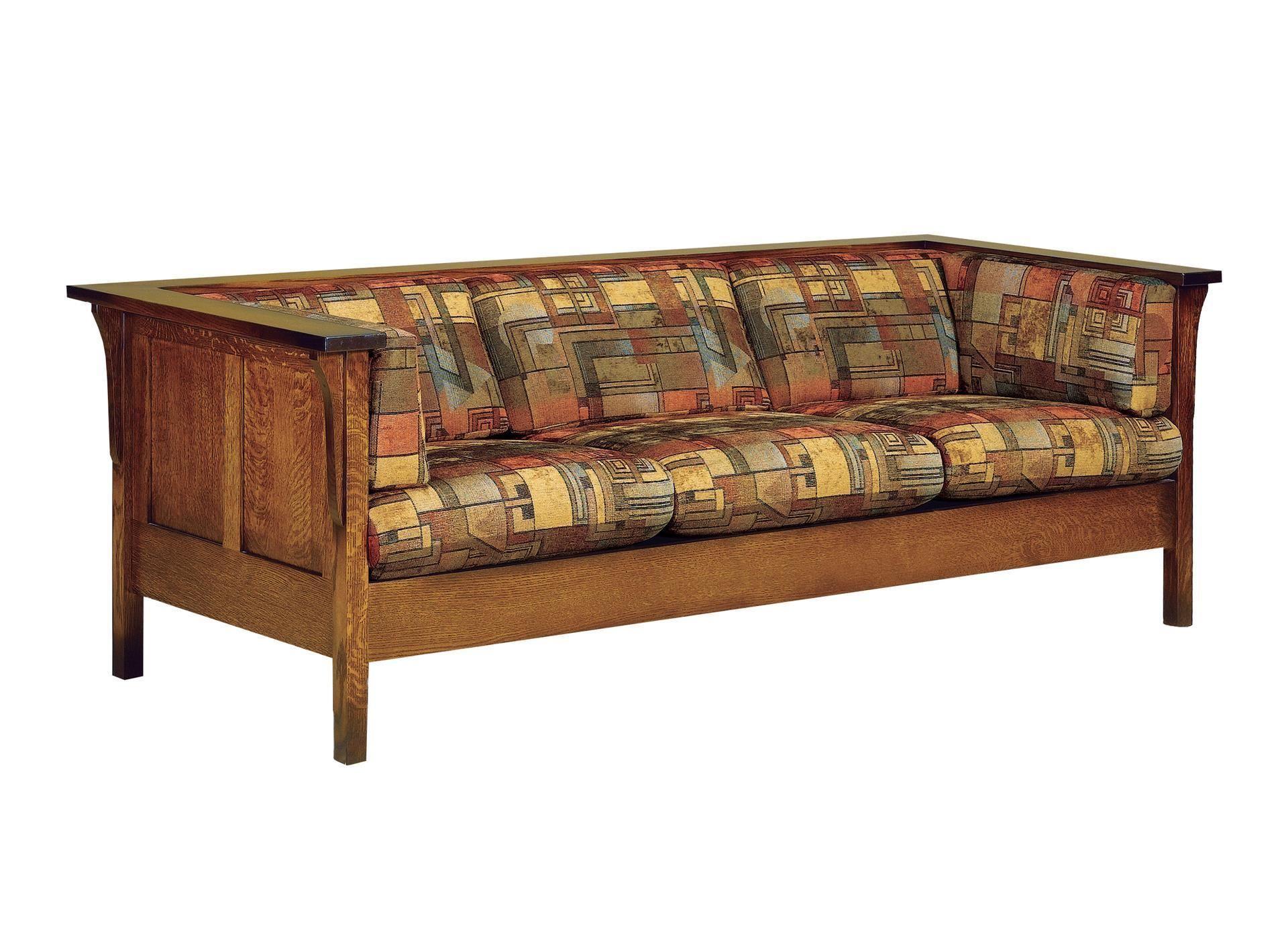 Amish Mission Cubic Panel Sofa | Furniture, Amish ...