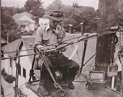 Pacific Telephone lineman at work sometime in the 1930's
