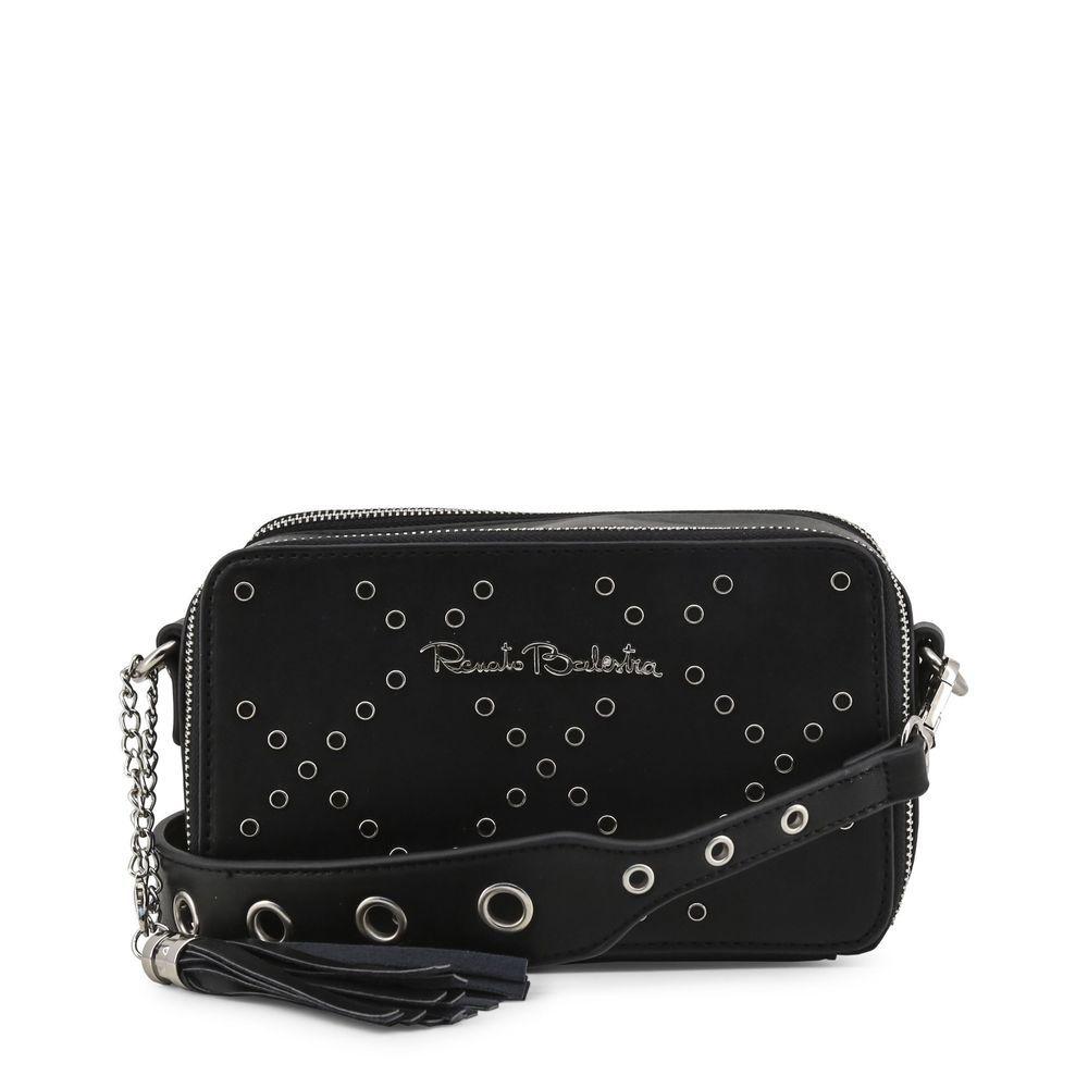 Renato Balestra Women s Black Crossbody Shoulder Bag Faux Leather Zip Studs   fashion  clothing   af9726f280