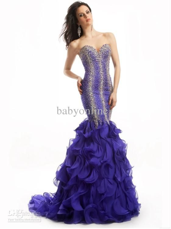0525529c0e 2012 DHgate New Sexy Sweetheart Exquisite Beading Organza Mermaid Evening  Dresses EWL47