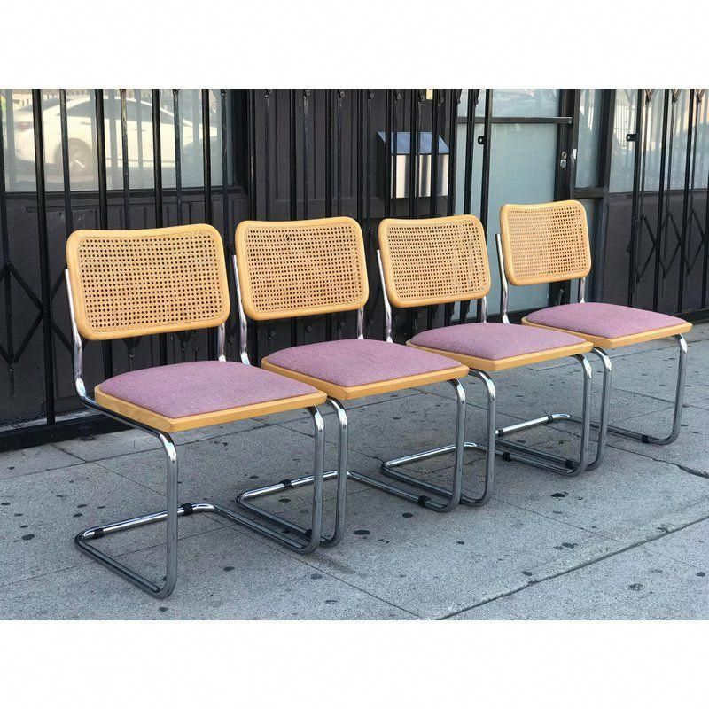 Upholstered Italian Cane Chairs canechairs Dining