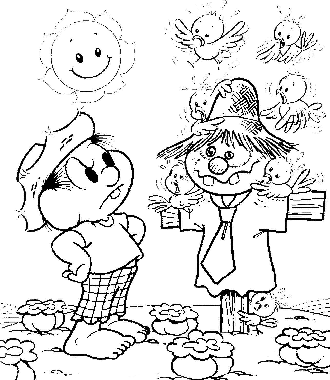 Chico Bento E O Espantalho Com Imagens Monica Para Colorir