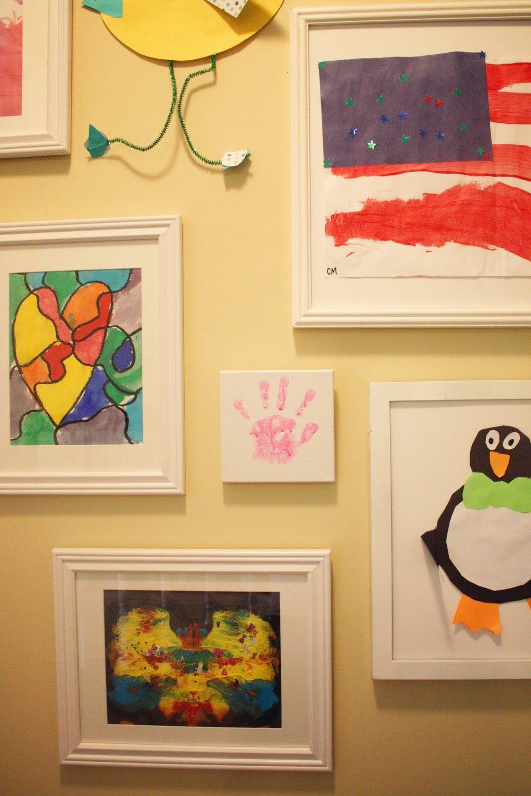 The Blue House Chronicles: Kids\' Art Wall | Diy | Pinterest | Kid ...