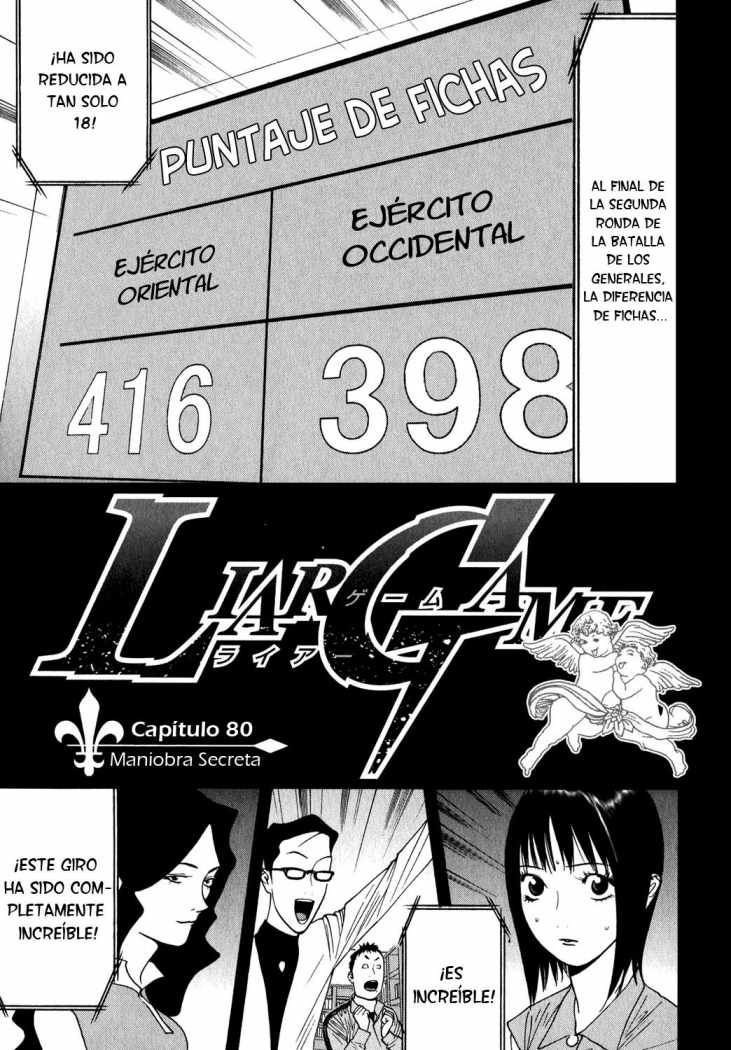 Liar Game 80 página 1 - Leer Manga en Español gratis en NineManga.com