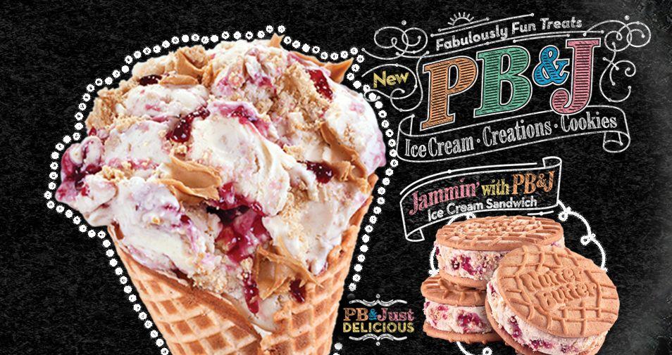 Cold stone creamery new peanut butter jelly ice cream