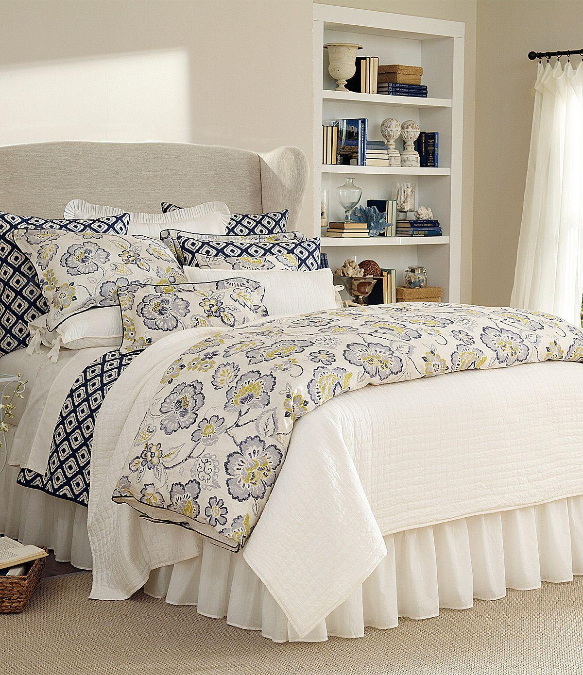 Noble Excellence Villa Amara Floral Amp Blue Ikat Bedding