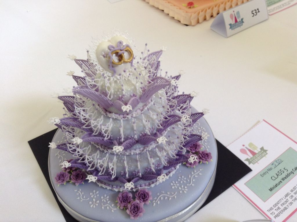 Mini wedding cake competition entry squires 2015   Royal ...
