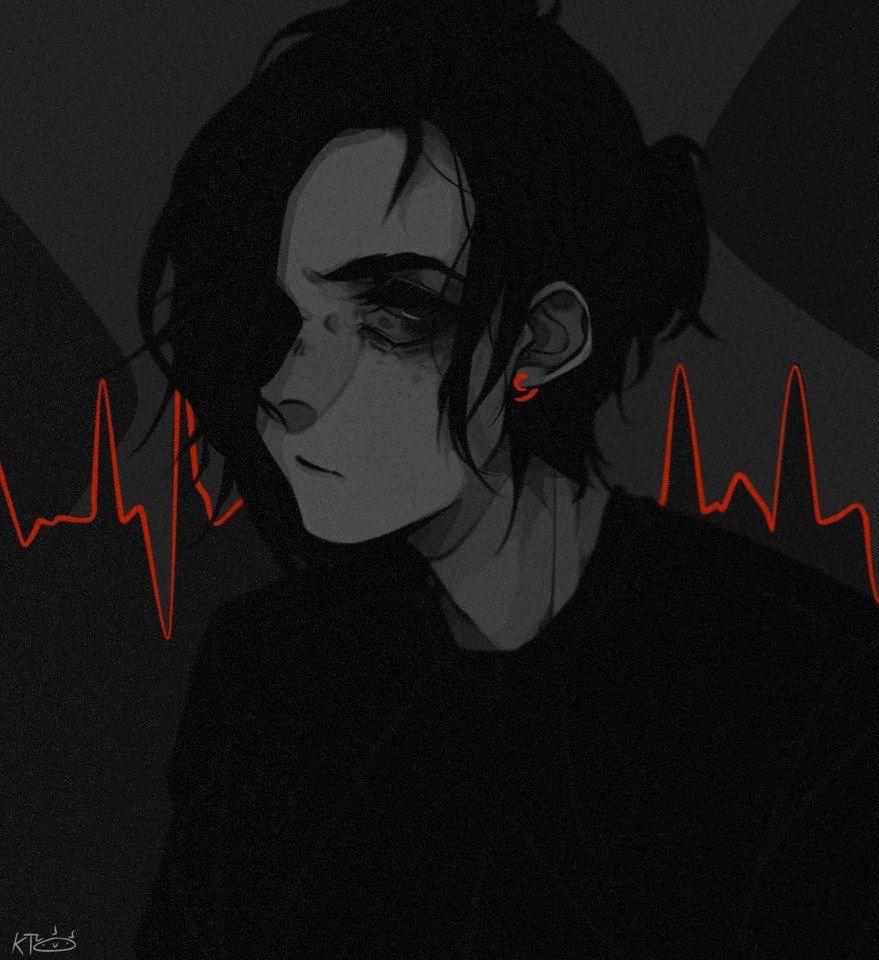 Sad Aesthetic Anime Girl Drawing