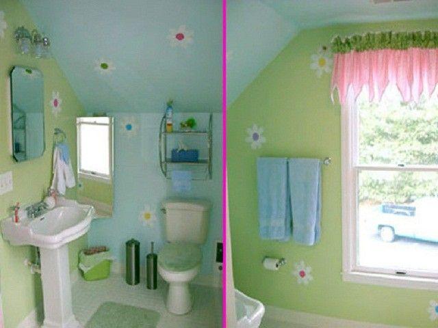 Painted boys/girls bathroom ideasBathroom Ideas house Pinterest