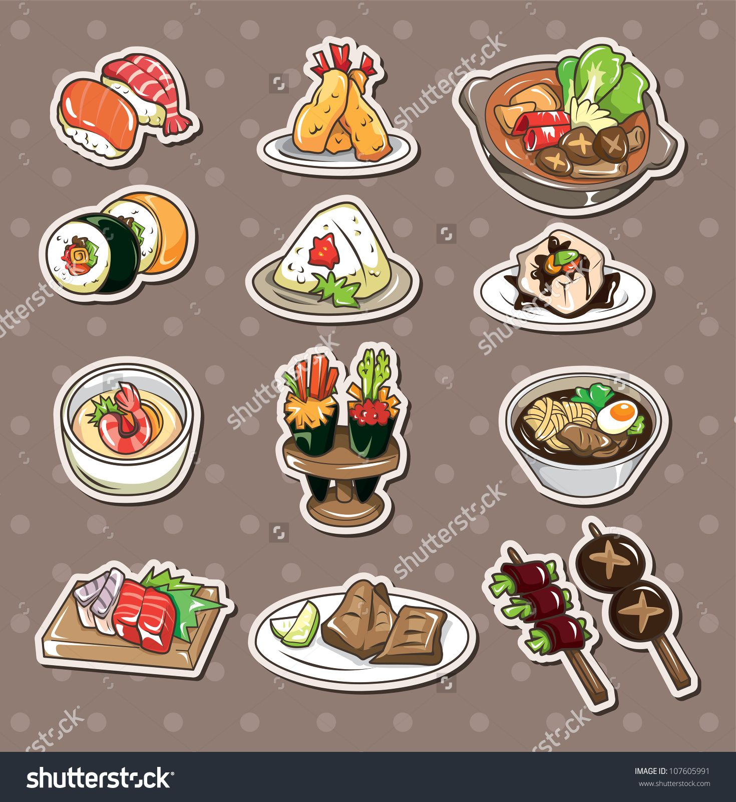watercolor japanese food - Google Search
