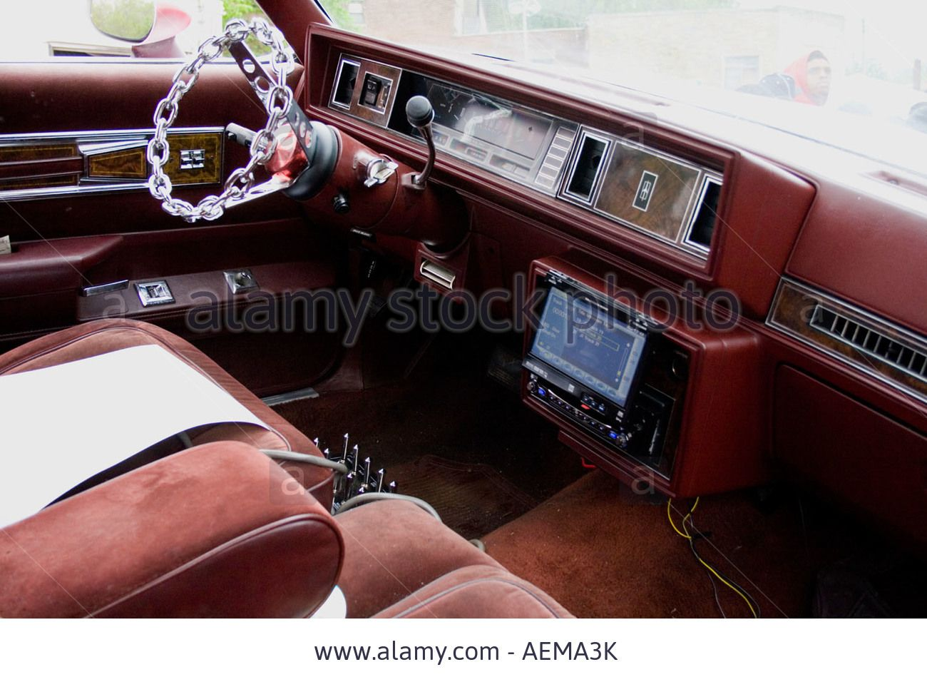 Interior Of Oldsmobile Cutlass Supreme At The Lowrider Car Show Display