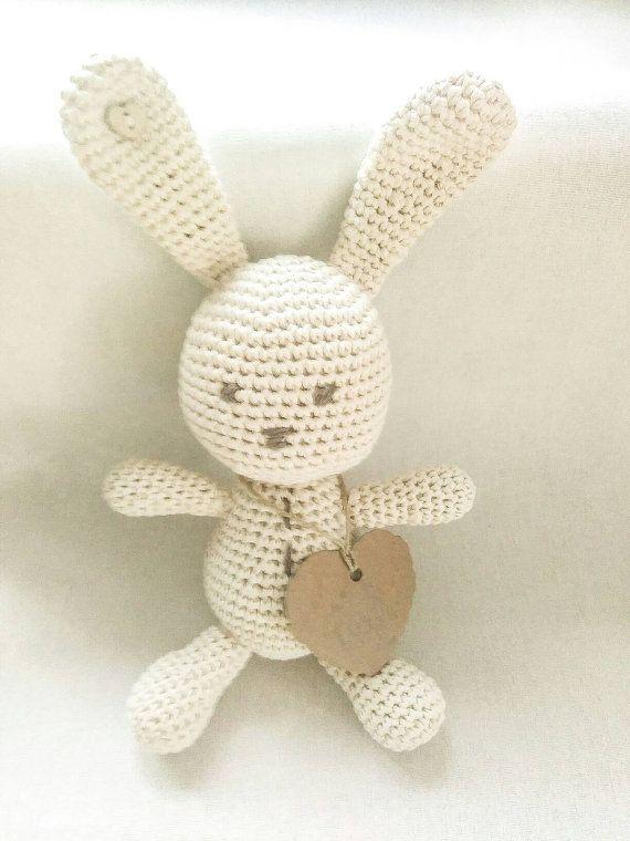 Baby gift, crochet bunny, amigurumi animal, amigurumi bunny, Easter bunny,natural baby toy, ecological toys, Easter gift