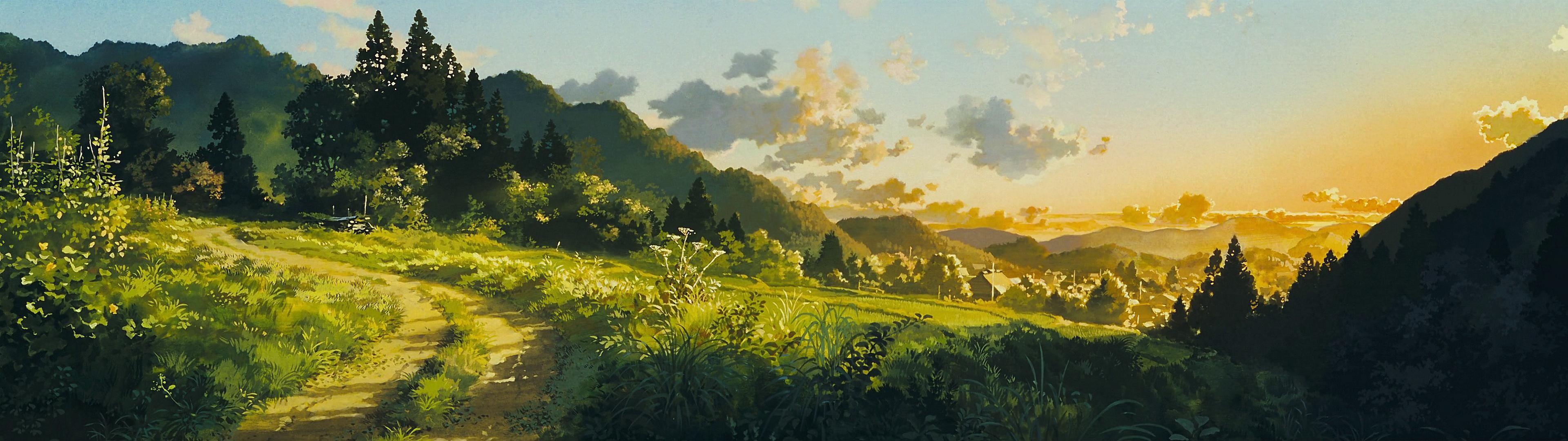 Reuploading The Dual Monitor Studio Ghibli Wallpapers I Saw Here A