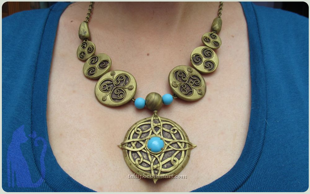 polymer clay amulet of