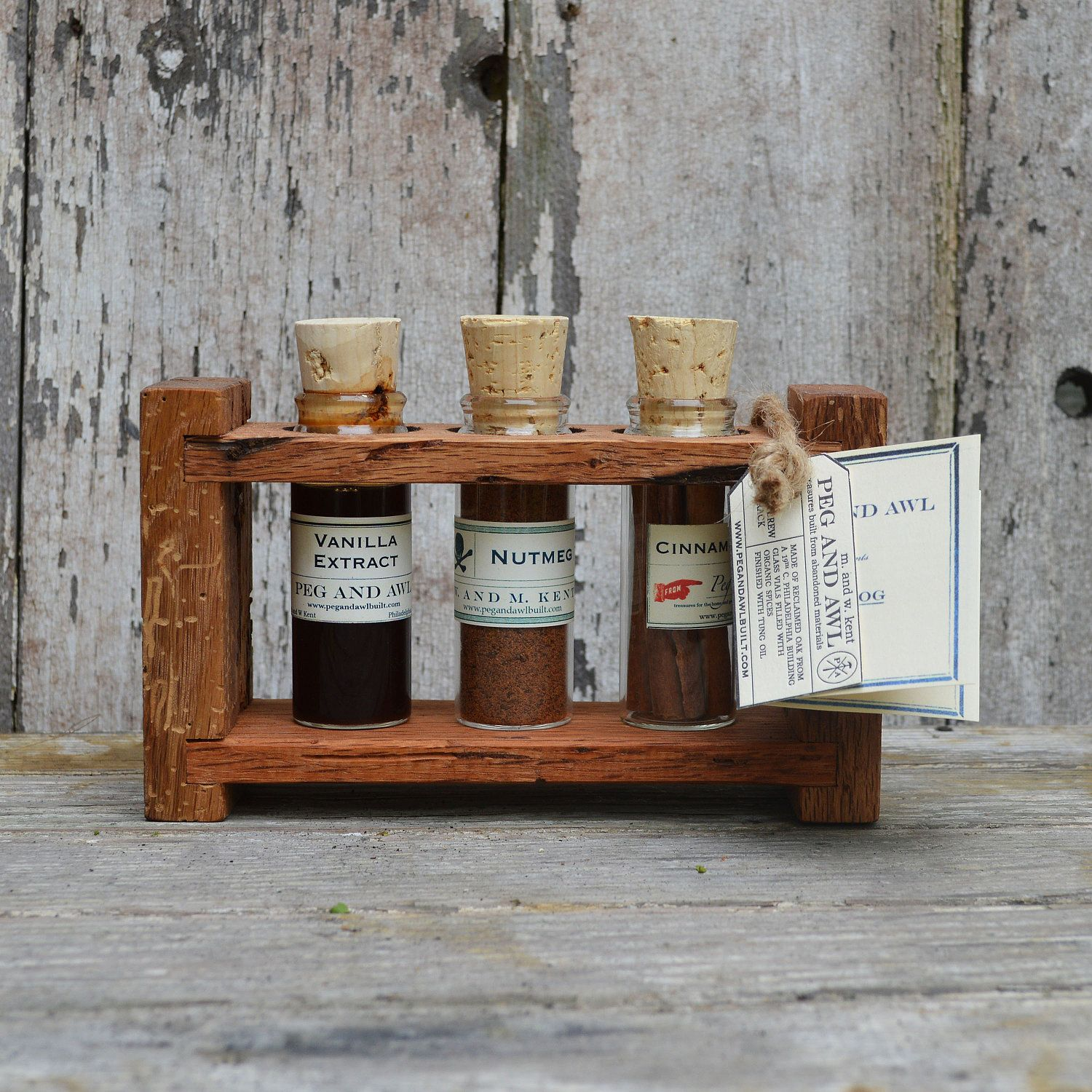 Woodworking Plans For Kitchen Spice Rack: Spice Rack: Eggnog Winter Brew, Reclaimed Wood, Apothecary