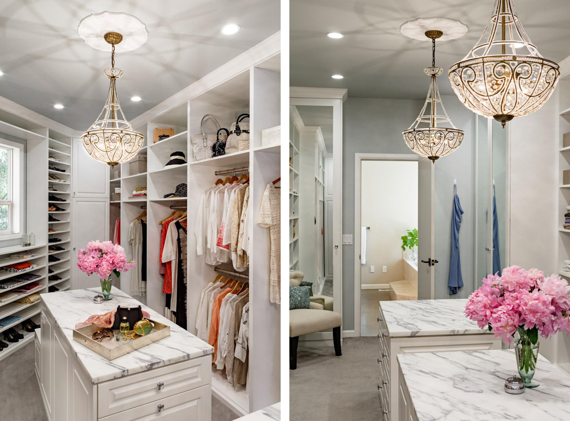 calcatta marble style master luxury closets find more inspiration wwwluxxunet - Luxury Closets