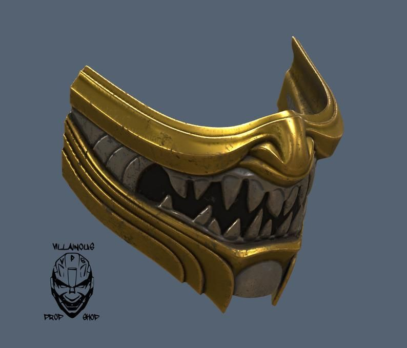 Mortal Kombat 11 Scorpion Mask Etsy Mortal Kombat Mask Design Kitsune Mask