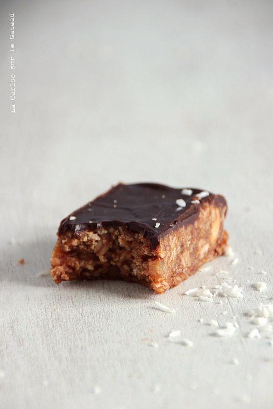 Flapjacks chocolat noir et noix de coco